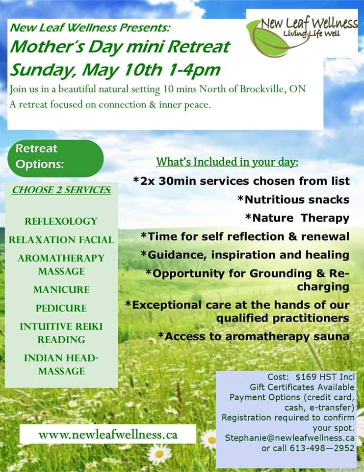 Mother's Day Mini Retreat event poster