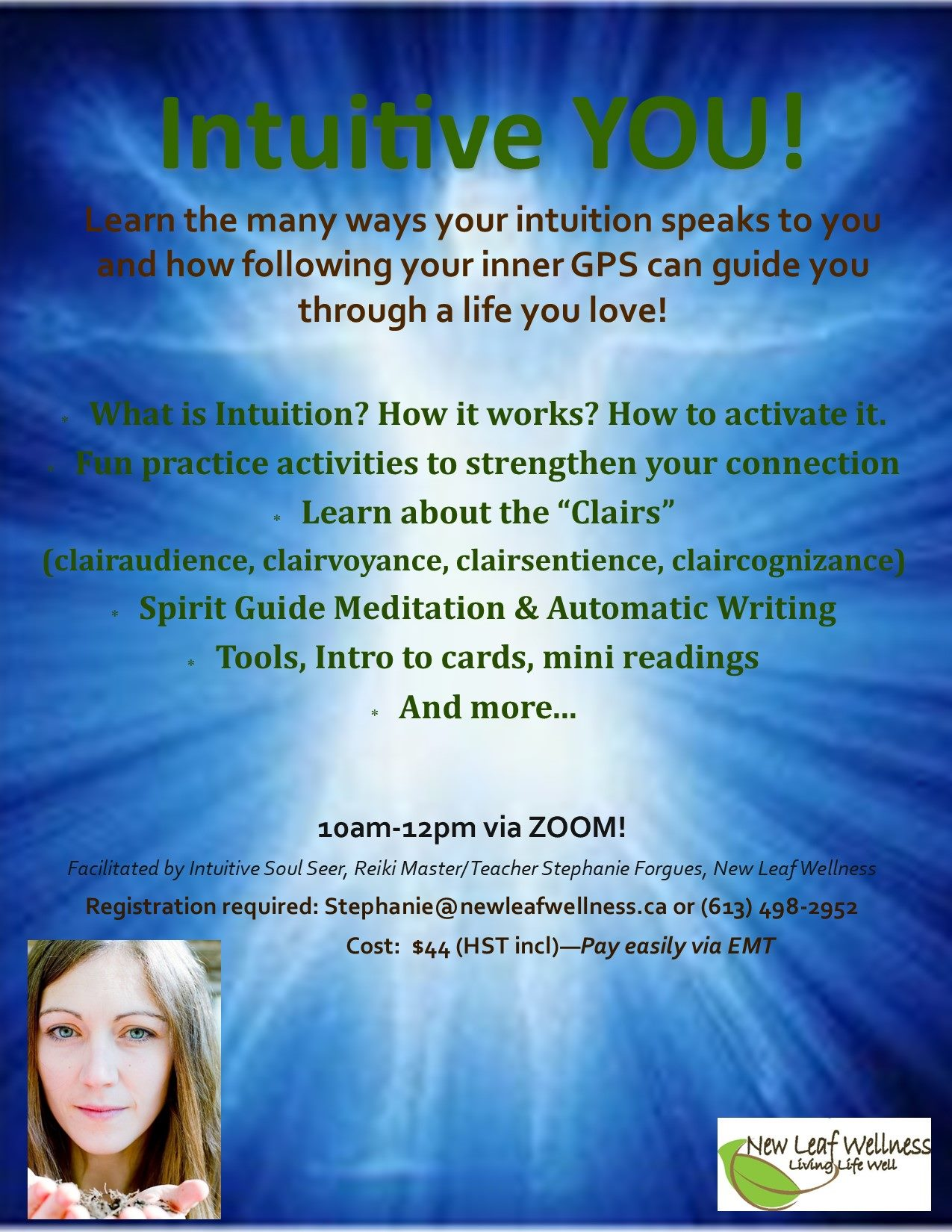 Intuitive YOU workshop poster